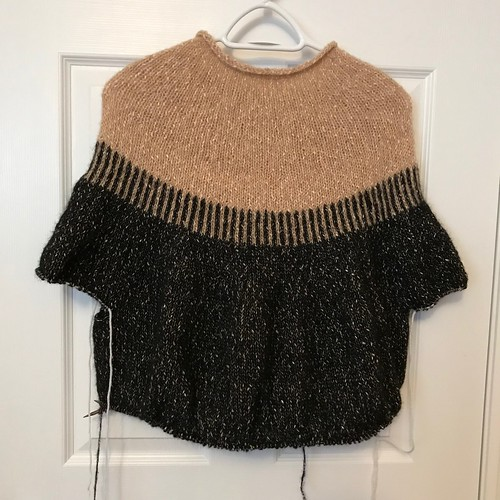 Progress of my Cedar Point sweater by Espace Tricot