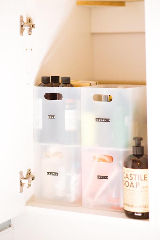 How To Organize Under Bathroom Sink