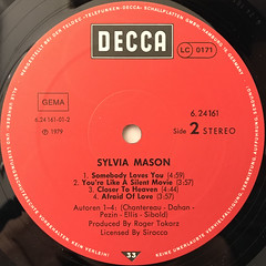 SYLVIA MASON:SYLVIA MASON(LABEL SIDE-B)
