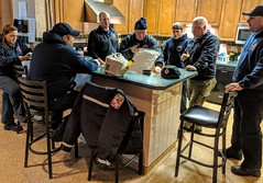 Dinner at the Westminster Fire Company featuring stories by Ed. 12feb2019