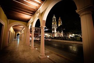 El Palacio, la Plaza de la Independencia y la Quinta Fachada de la Catedral