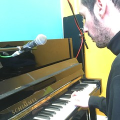 Alabaster dePlume performing live in session on The deXter Bentley Hello GoodBye Show on Resonance 104.4 FM in Central London on Saturday 9th February 2019