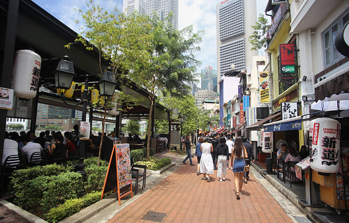 Boat Quay serves as one of the most popular places in Singapore