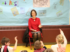 Rep. Cheeseman joined K-4th grade students at Niantic Center School for Read Across America Day on March 1st, they read 'I'm Not Going to Get Up Today' by Dr. Seuss and 'If You Plant a Seed' by Kadir Nelson.
