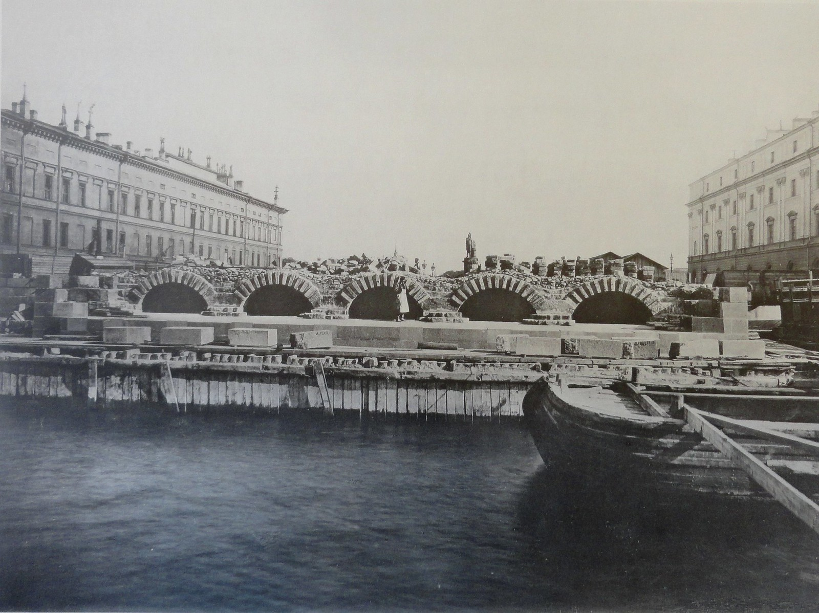 1902. Левый береговой устой. Апрель