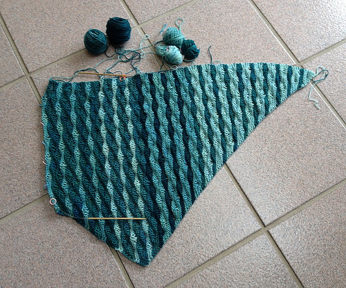 DonaJB's Marron by Madeleine Windsor using SweetGeorgia's Party of Five Tough Love Sock Mini Skeins in Swell!