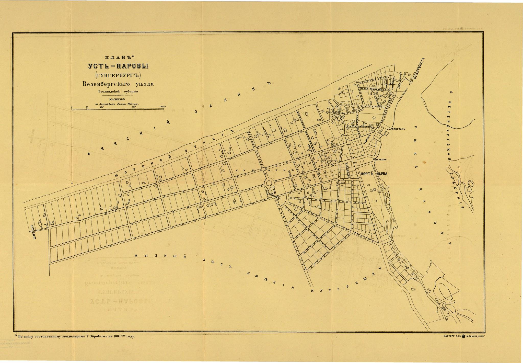 1887. План Усть-Наровы