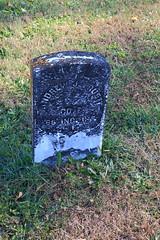 Gravestone of Andrew Pruett (Civil War, Union Army), Bethel Cemetery - Northwest Orange County, Indiana
