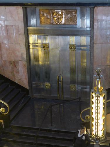 The Art Deco elevators at the Palacio of Bellas Artes in Mexico City