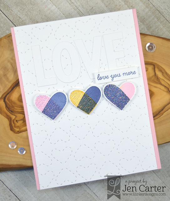 Jen Carter Heartthrob Quilted Stitched All Hearts Heartthrob Love wm