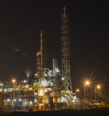 Saltend chemical works nighttime