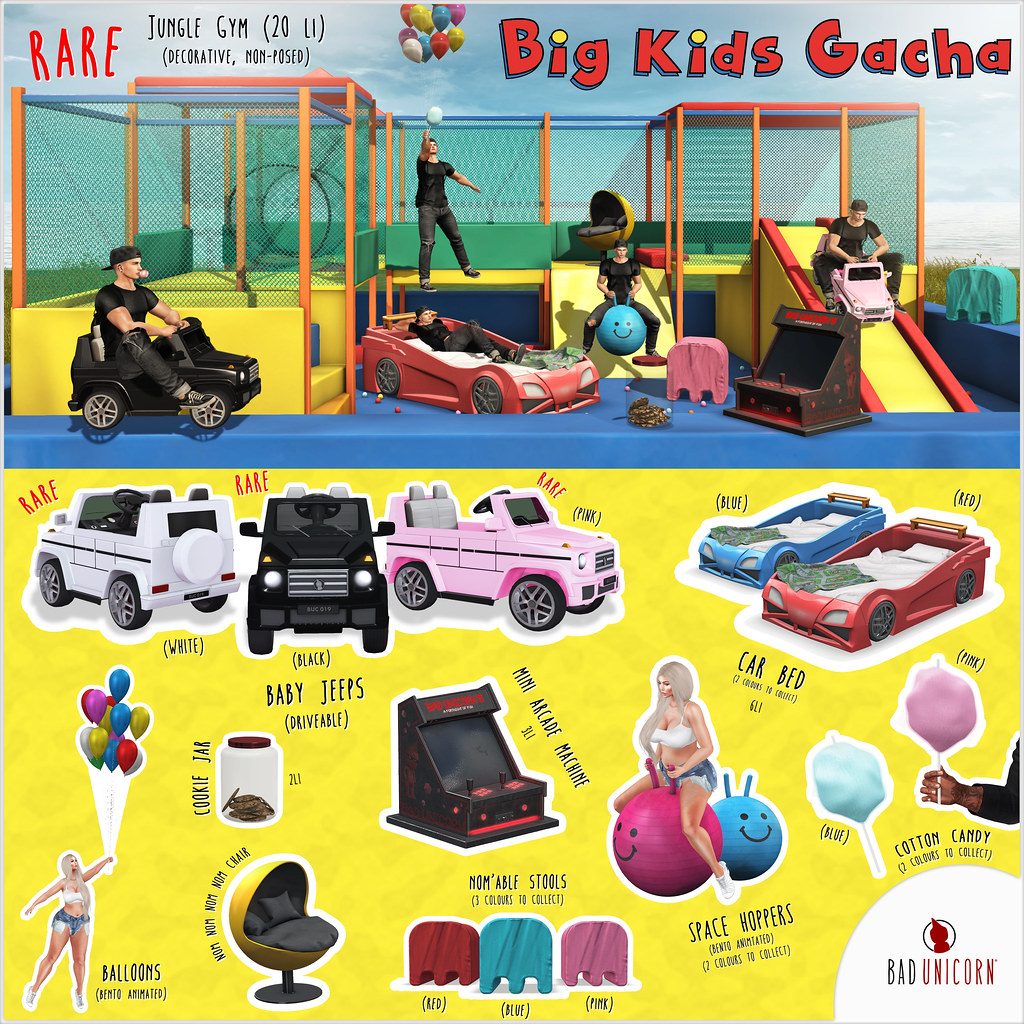 NEW! Big Kids Gacha @ The Arcade Gacha Events