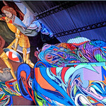 Exposition d`art urbain `Strokar Inside`, chaussée de Waterloo, Bruxelles, Belgium