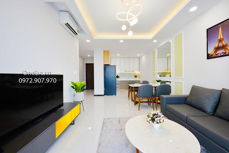 bếp và phòng khách