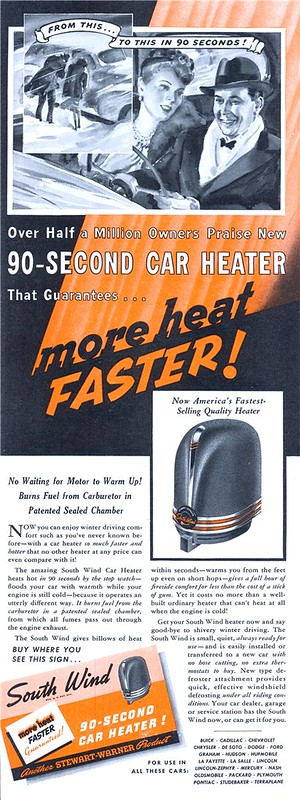 South Wind Car Heater 1940