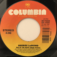GEORGE LAMOND:BAD OF THE HEART(LABEL SIDE-A)