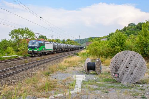 RTB 193 730 met VTG keteltrein, Burgbernheim