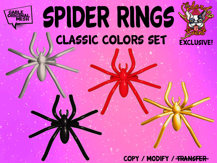 Spider Rings (Classics) out now @ the Underdog Event