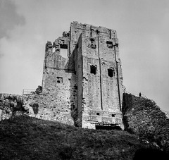 Image by John.R.Taylor (www.cloudedout.squarespace.com) (skywatcher150) and image name Corfe Castle photo  about Yashica Mat 124G, Fomapan 200 in Rodinal