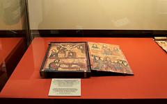 Двусторонняя икона-складень с евангельскими сценами. Эфиопия, второй Гондарский стиль в исполнении мастера середины - второй половины XIX в.