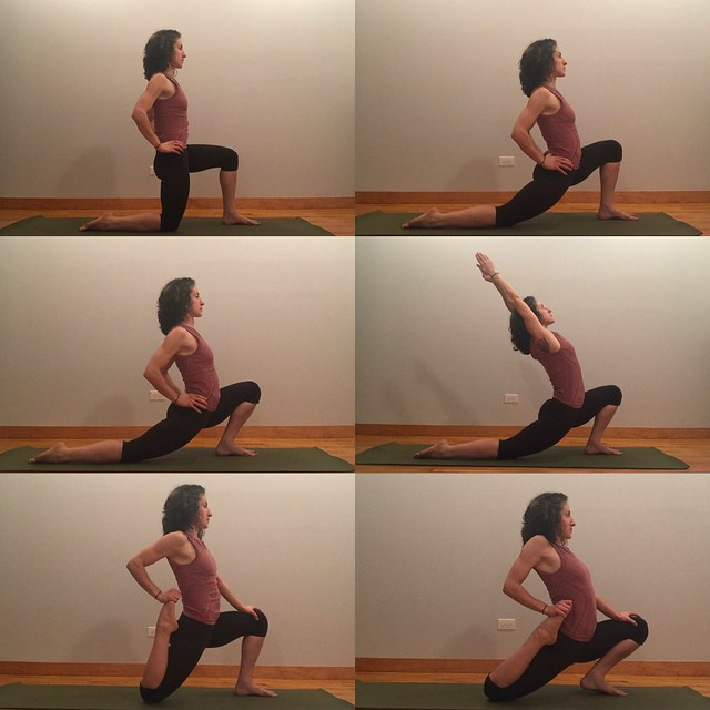 lunge and quad stretch progression