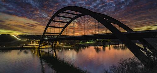 pennybackerbridge pennybacker bridge sunset