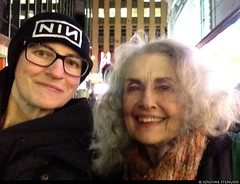 """20170105_i08 Me & Mary Beth Peil (... I think) by the stage door of the Booth Theatre, where she was doing """"Les liaisons dangereuses"""" 