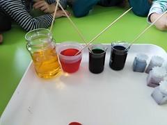 Pokus - farby v mlieku
