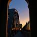 Burrard Bridge at sunset by Reva G