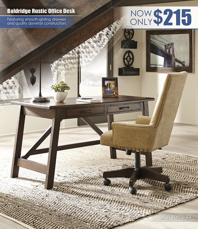 Baldridge Rustic Office Desk_H675-44