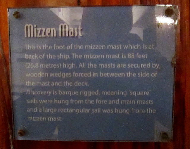 Mizzen Mast Plaque, RRS Discovery, Dundee