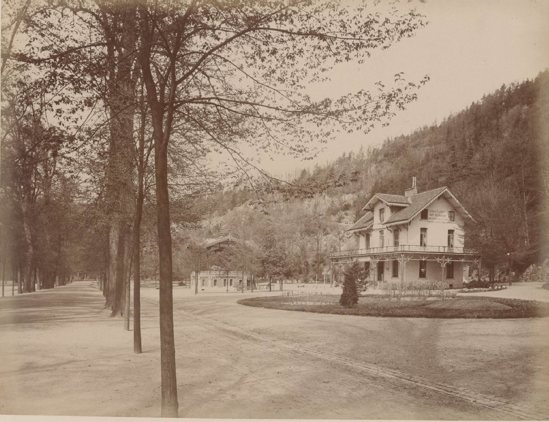Бельгия. Спа. Коттеджи и Аллея. 20 мая 1888
