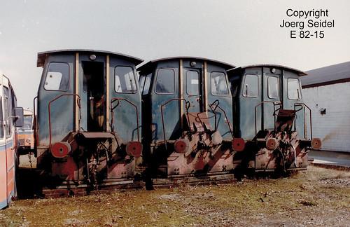 BE-3630 Maasmechelen Armand Lowie ABR Lokomotiven ex Steenkoolmijn van Winterslag im März  1991