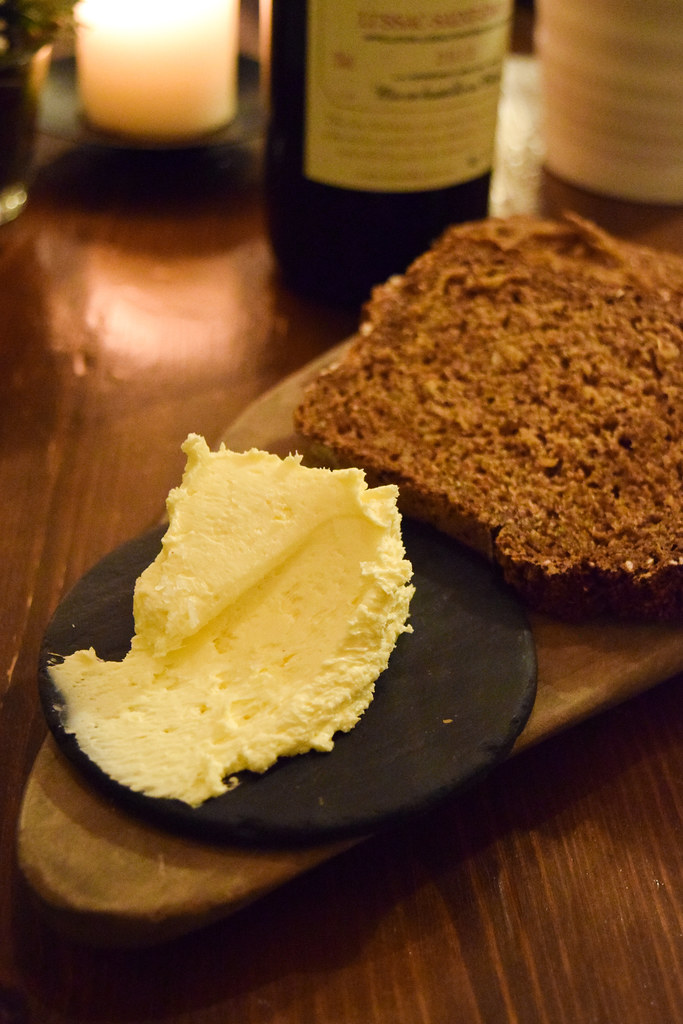 Whipped Butter and Guiness Bread at The Harwood Arms, Fulham