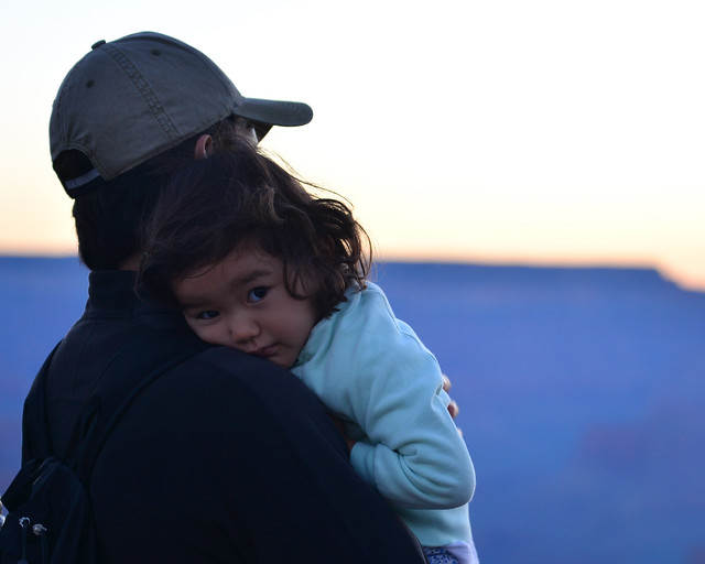 Padre e hija en el Gran Cañón
