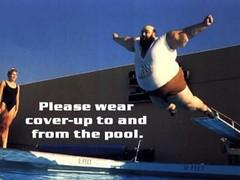 Camp Rule:  Use Swim Suit Coverup