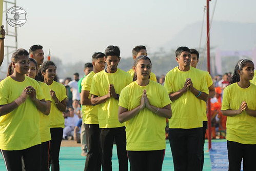 Devotees of Athletics seeking blessings