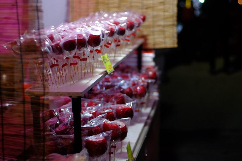 Ringo ame candy food stall, Hachimangu, Kamakura