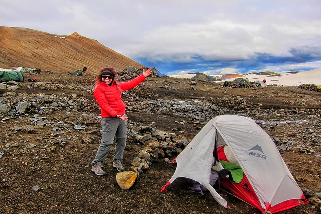 Iceland ~ Landmannalaugar Route ~  Ultramarathon is held on the route each July ~ Camp Site
