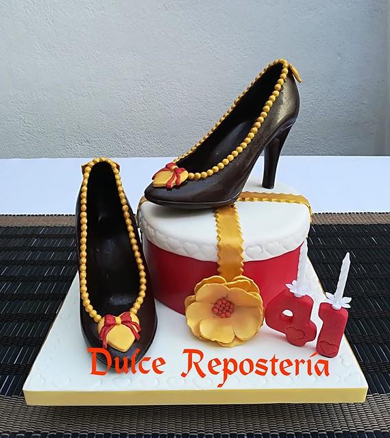 Cake by Rosario Lopez Gomez of Dulce Reposteria