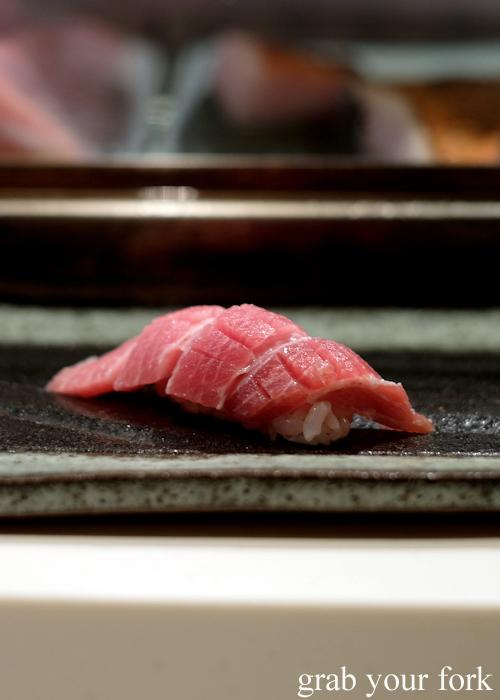 Ootoro wild northern bluefin tuna during the omakase at Masuya Sydney
