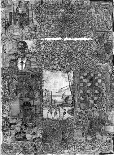 """Black Sabbath Darth Vader""(pho title amongst construction) panel 3"