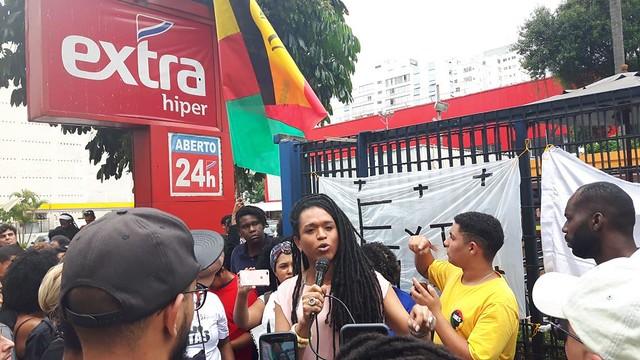 Para o Movimento Negro Unificado, os supermercados são focos de racismo estrutural - Créditos: Luciana Araújo (MNU)