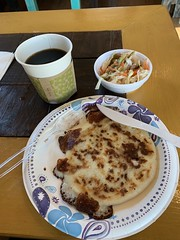 Pupusas revueltas with escabeche cabbage and carrots - Casa Amaya  608 E Blanco Rd Boerne, TX 78006