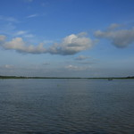 Landscape of River and Cloudy Sky