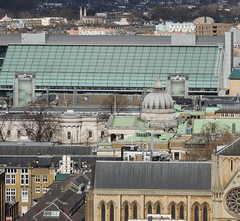 View of UCL dome from tower of Senate House, University of London