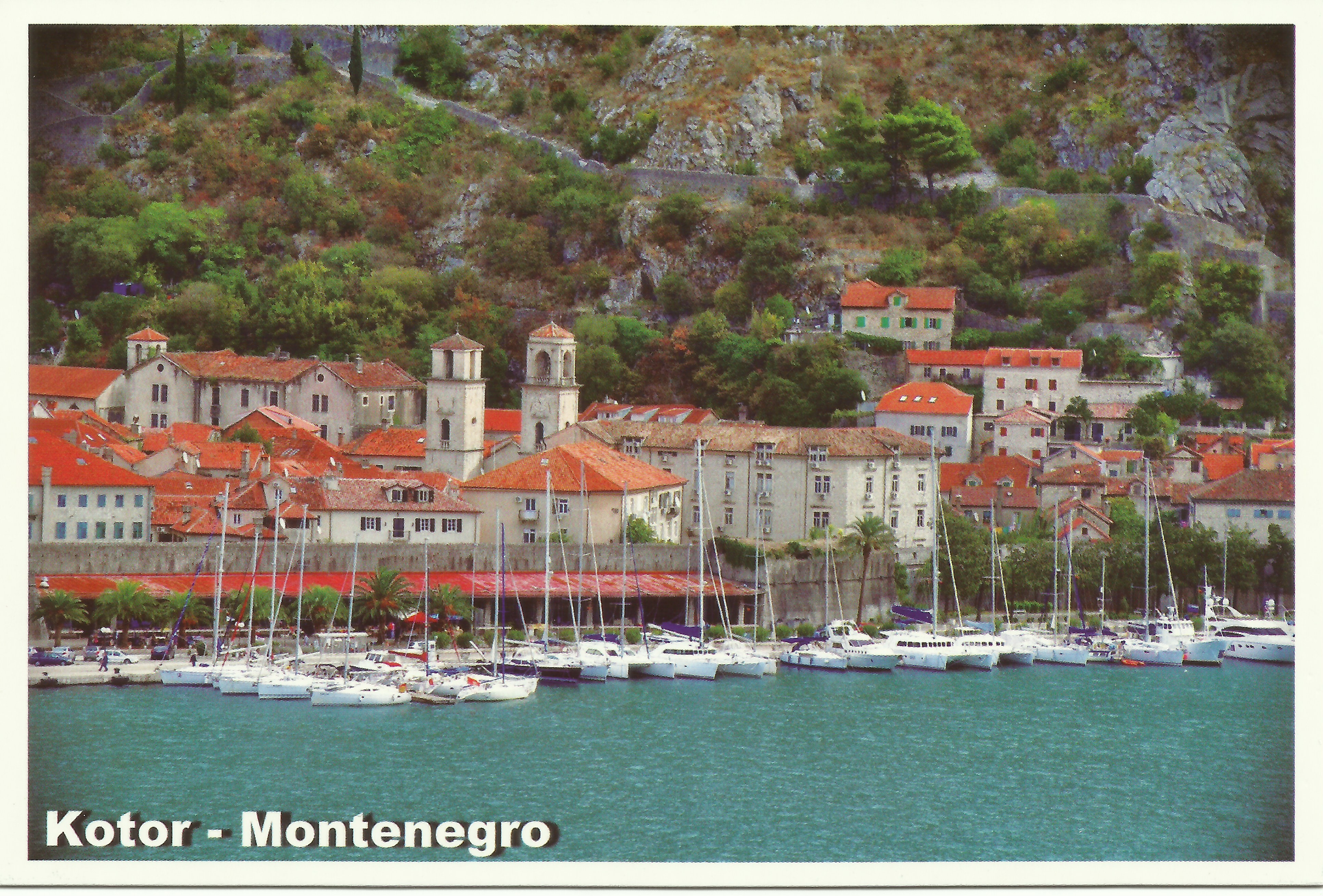 Postcard sent from Kotor, Montenegro, by my younger sister, Marilyn, in August 2013.