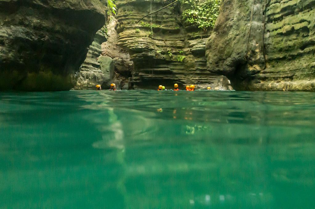 Canyons that lead to Kawasang falls