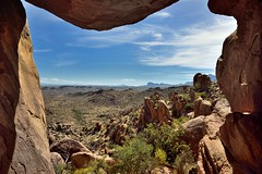 Using the Balance Rocks to Frame a View of Big Bend National Park