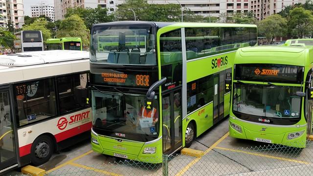 SG5986K on SMRT Bus Service 883B